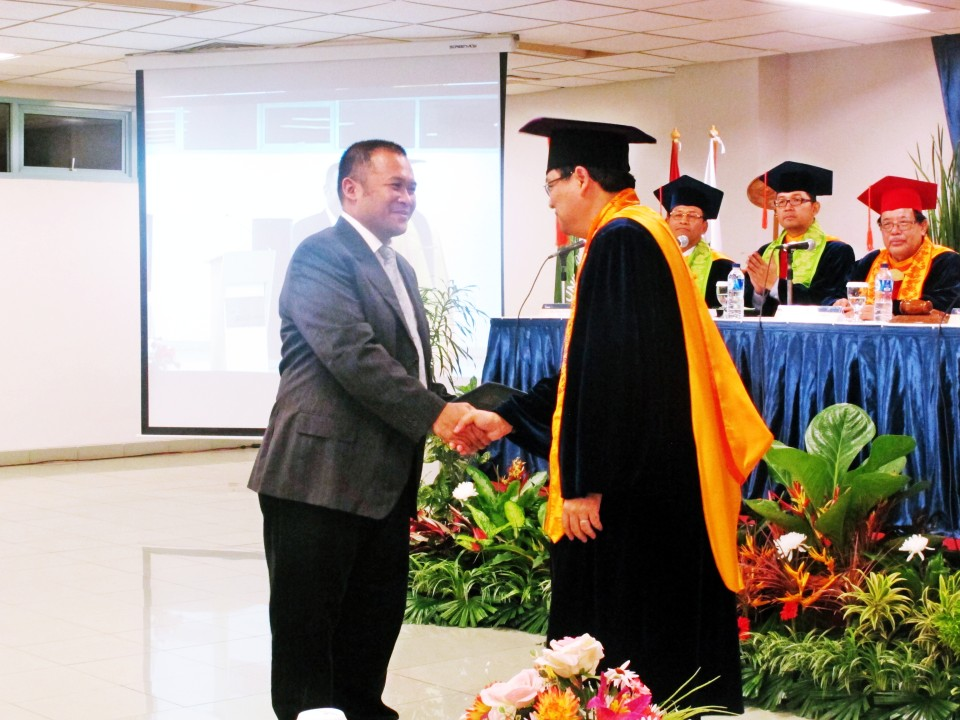 Deputy of Trade Minister of Indonesia attended Promotional Examination & the Second Doctoral Inauguration of Research in Management