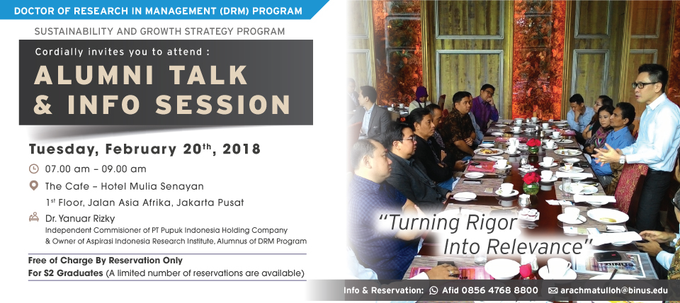 ALUMNI TALK AND INFO SESSION