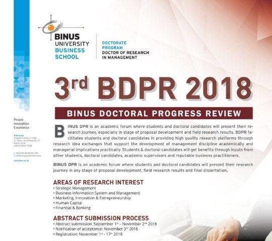 BINUS DRM Lahirkan Doctor ke 64
